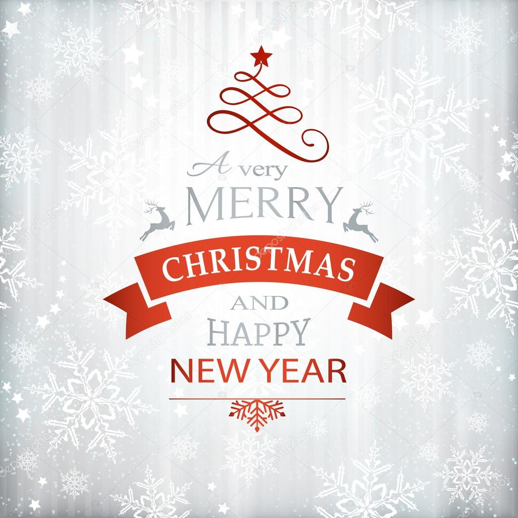600+ Best Free Merry Christmas Images & New Year Pictures 2021 - depositphotos 86257040 stock illustration red silver christmas background typography