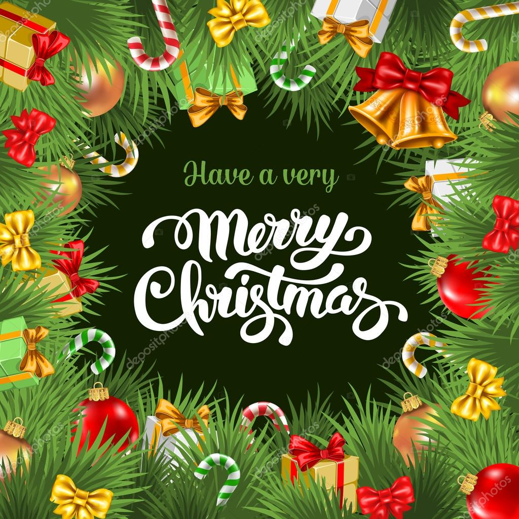 600+ Best Free Merry Christmas Images & New Year Pictures 2021 - depositphotos 89270320 stock illustration festive christmas card