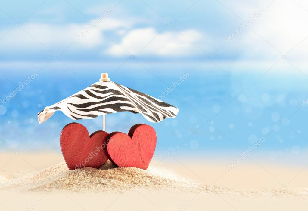 1000+ Free Happy Valentines Day Images - depositphotos 94511680 stock photo two hearts under umbrella on