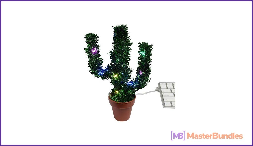 Christmas Cactus Multicolor LED Lights.