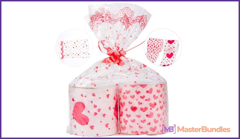 Alphatool 2 Rolls Valentine's Day Romantic Toilet Pape