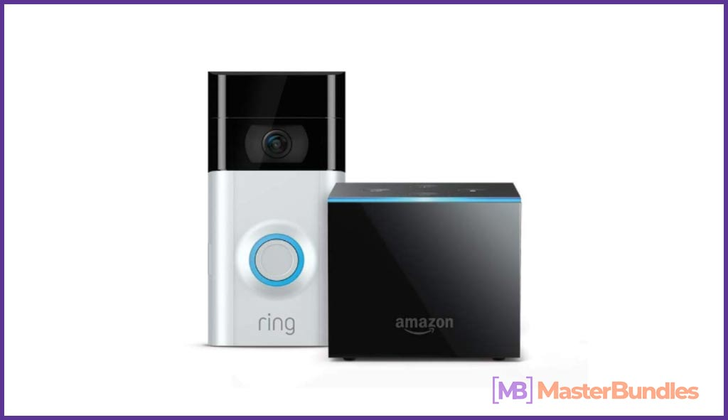 Amazon Fire TV Cube bundle with Ring Video Doorbell 2