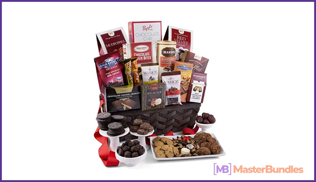 Chocolate Gift Basket Premium. Valentine's Day Gifts for a Writer.