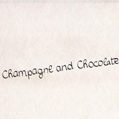 Champagne and Chocolate font - $10 - 00 490x490