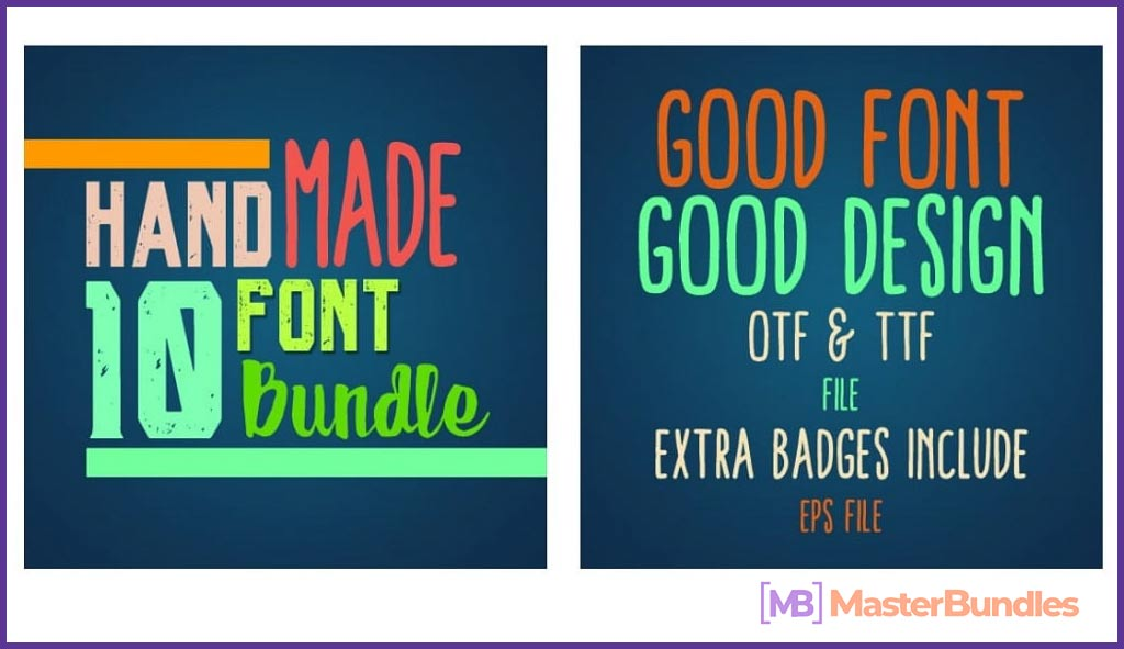 10 Premium HandMade Fonts Bundle.