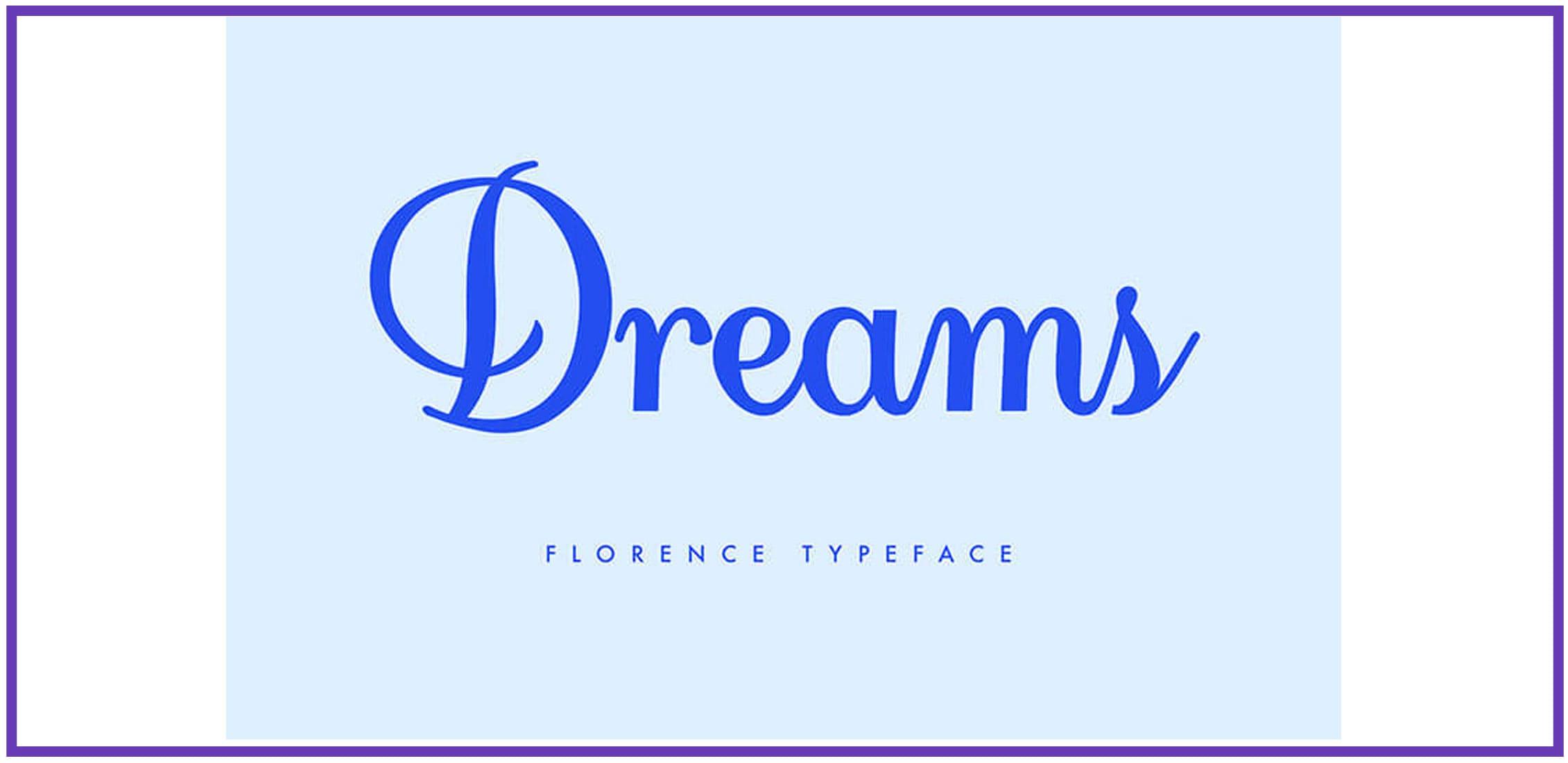 A script fun font on a light blue background.