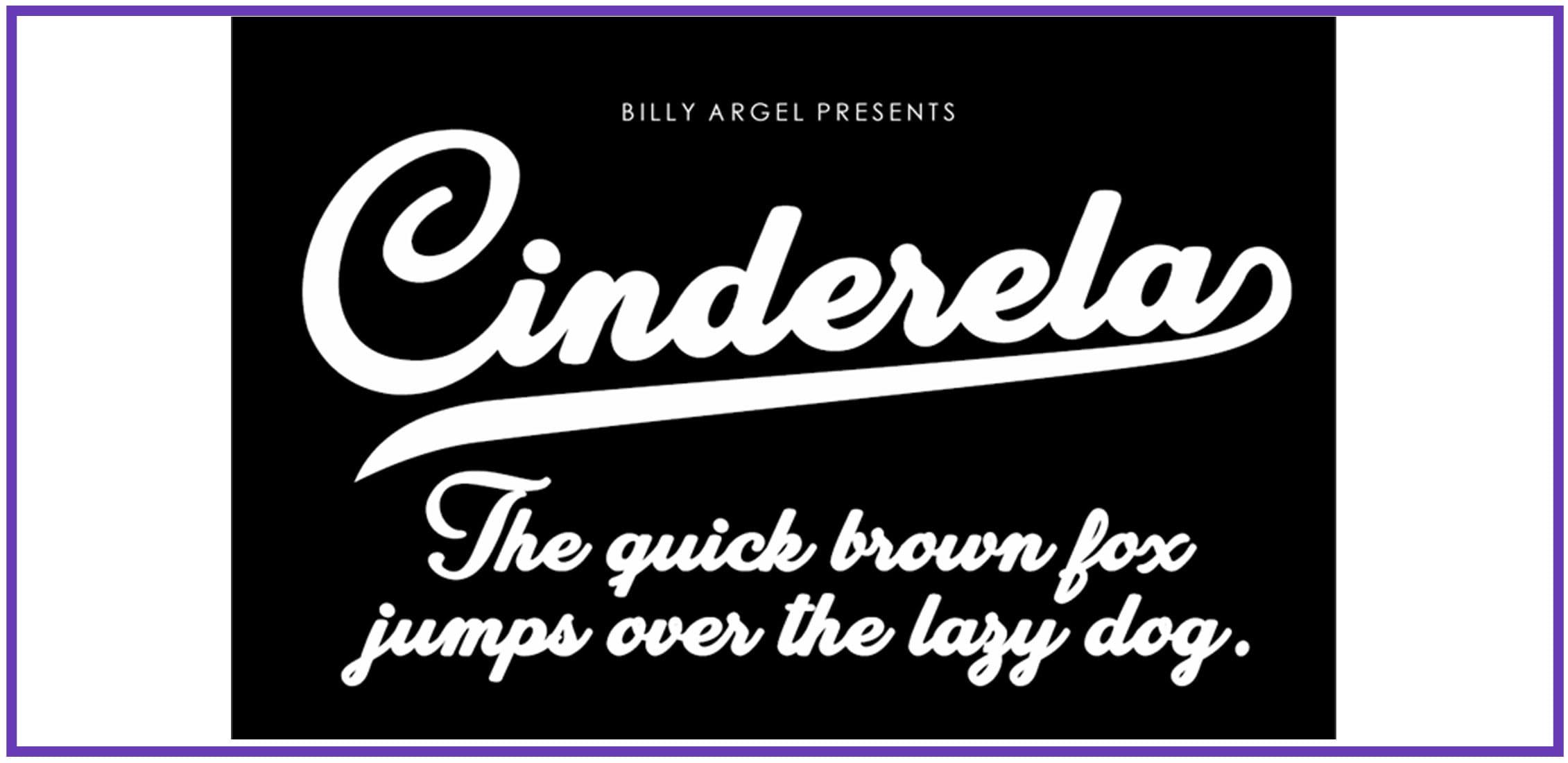A script fun font on a black background.
