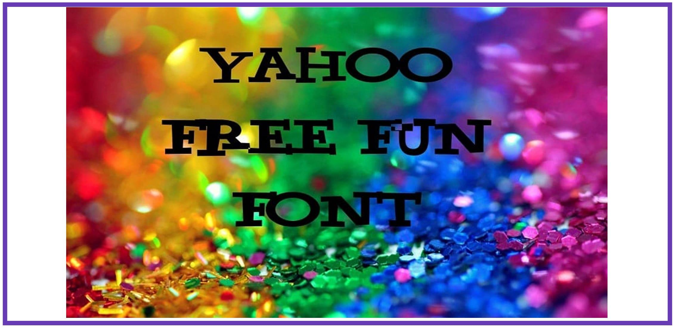 Multicolor confetti with a serif fun font.
