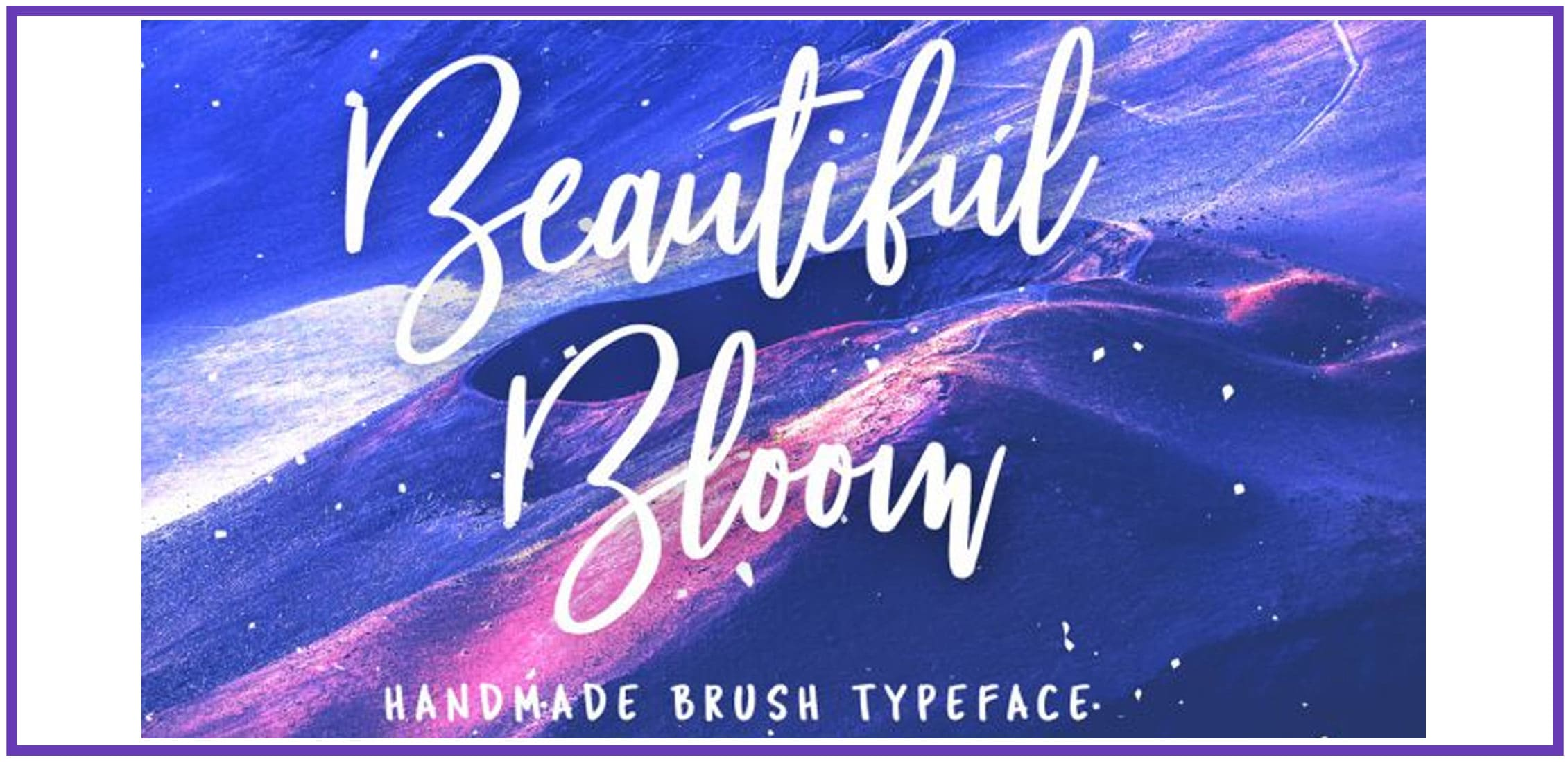 Blue sand with a handmade brush fun font.