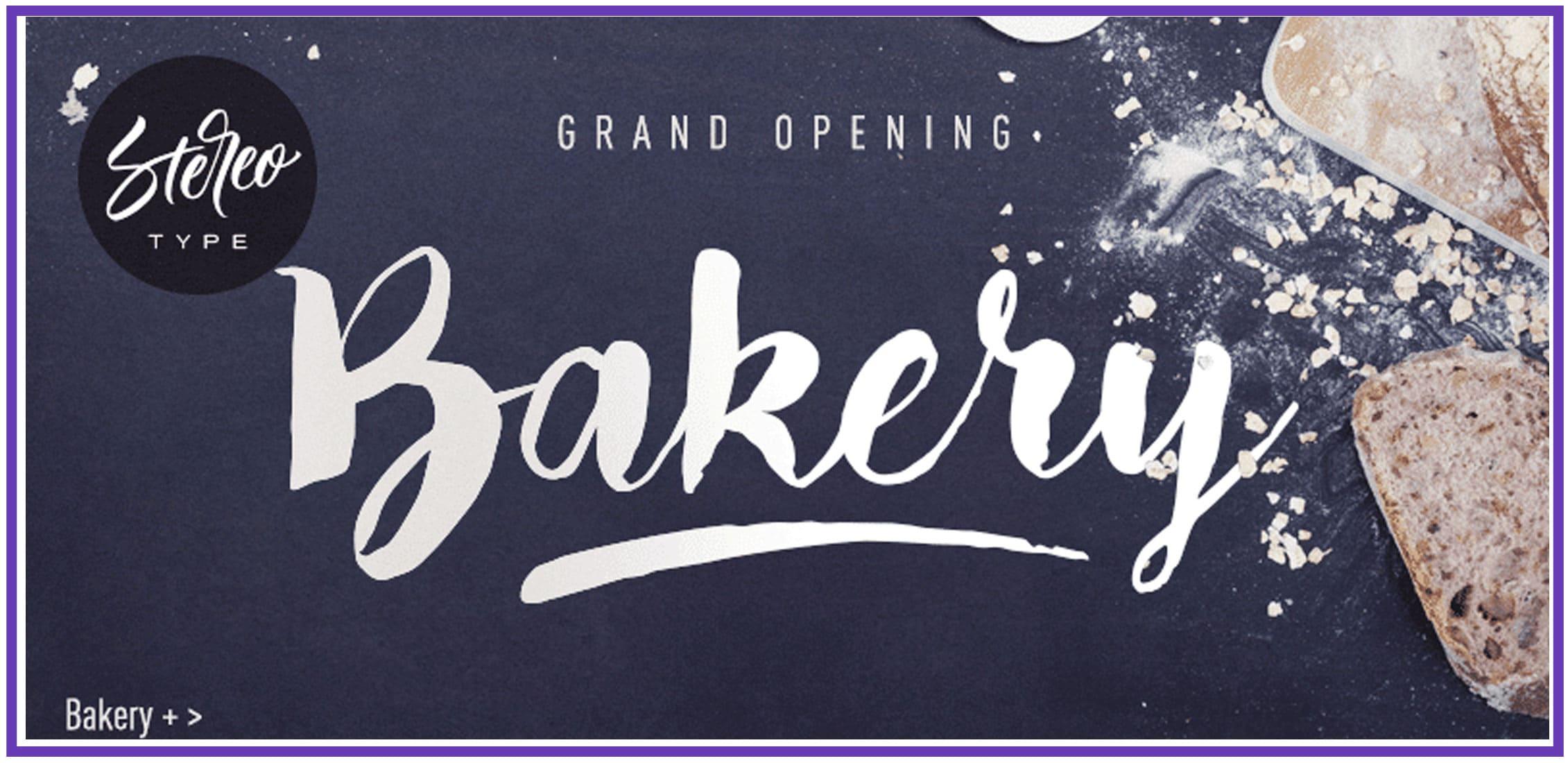 Bread, flour and a script fun font.