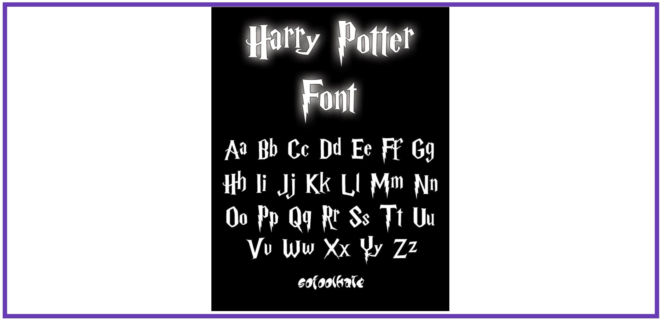 Serif fun font against black background.