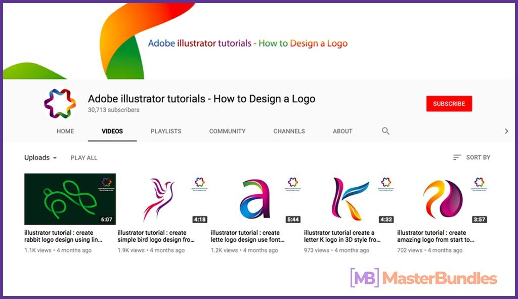 70 YouTube Channels For Learning Web Design in 2020 - Adobe illustrator tutorials –how to design a logo 3