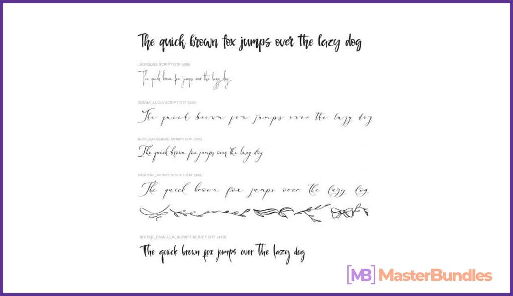 Calligraphic Font Bundle.