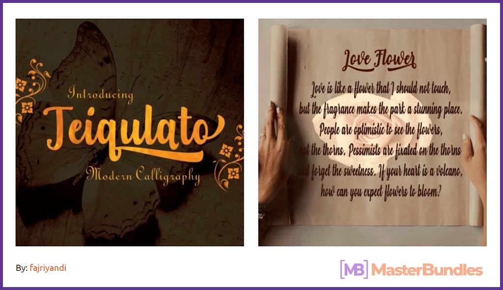 Download Teiqulato Script Font.