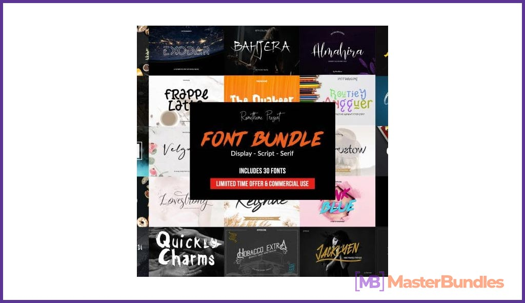 Exclusive Mega Bundle of 30 Fonts