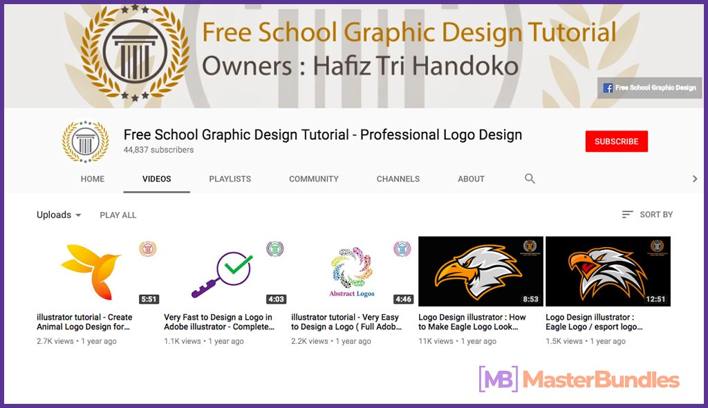 70 YouTube Channels For Learning Web Design in 2020 - Free School Graphic design tutorial –professional logo design 25