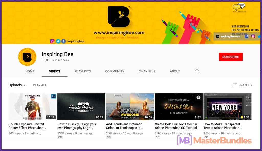 70 YouTube Channels For Learning Web Design in 2020 - Inspiring bee 36