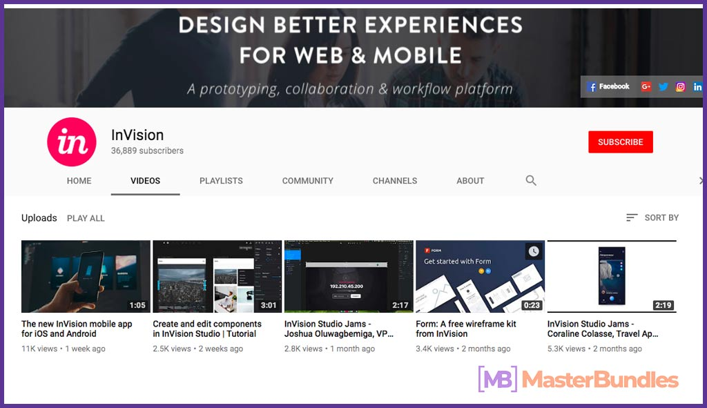 70 YouTube Channels For Learning Web Design in 2020 - Invision 37
