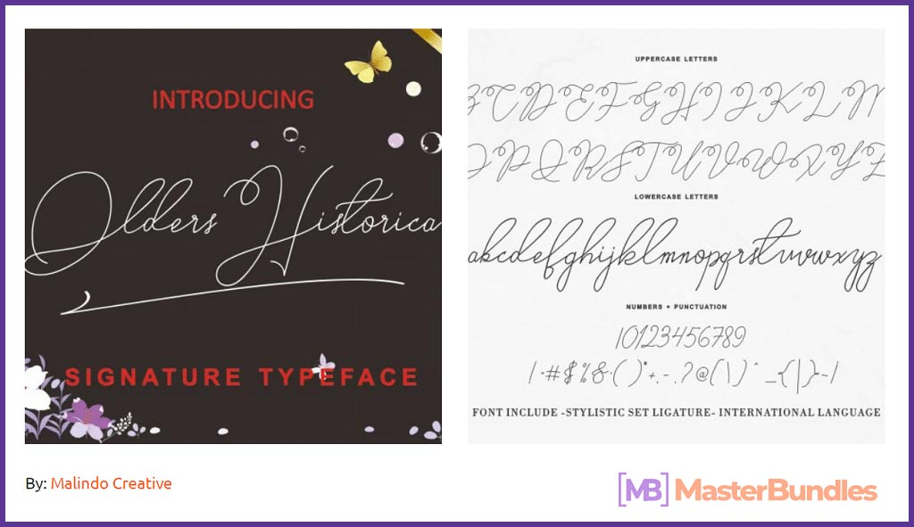 Older Historica Signature Type Font
