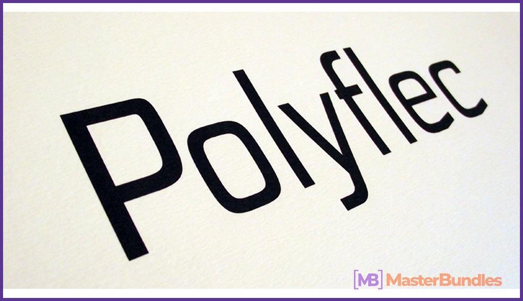 Polyflec Regular urban font