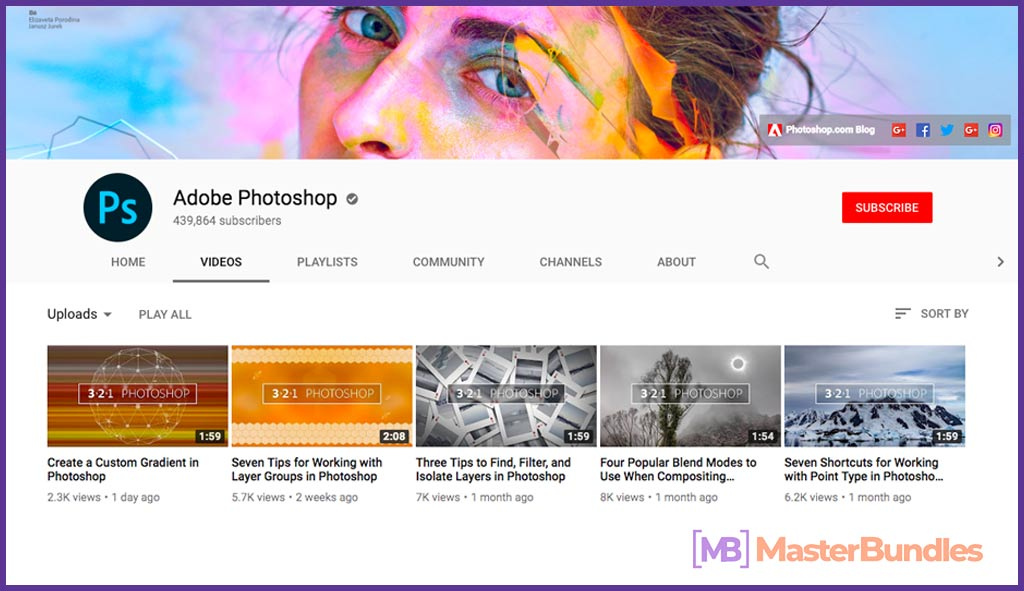 70 YouTube Channels For Learning Web Design in 2020 - adobe photoshop  4