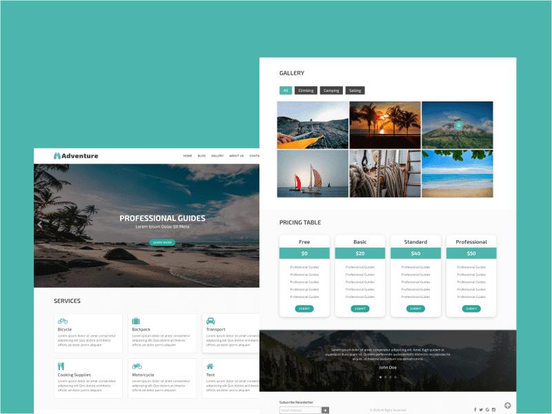28 Premium HTML Templates Bundle - $5 - adventure