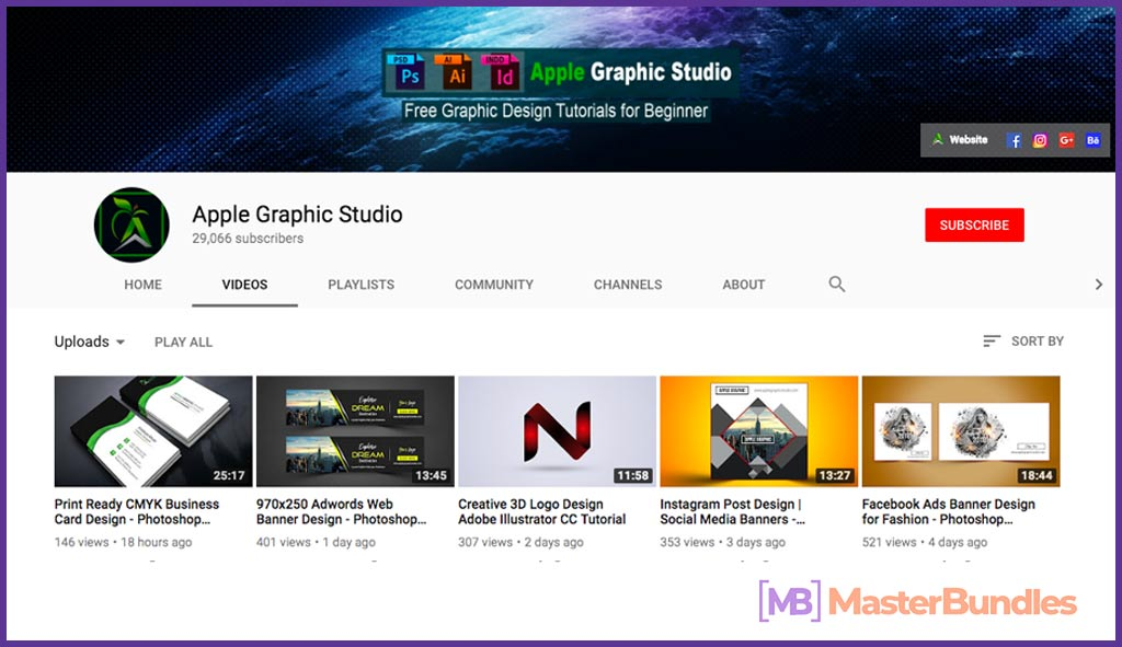 70 YouTube Channels For Learning Web Design in 2020 - apple graphic studio 6
