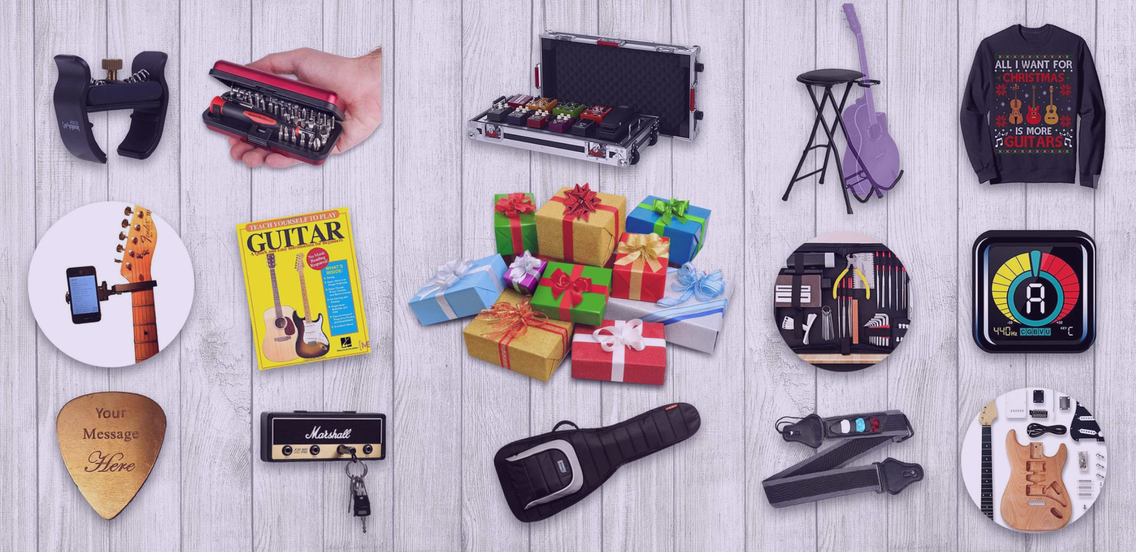 An example of what cool gifts for guitar lovers can be.