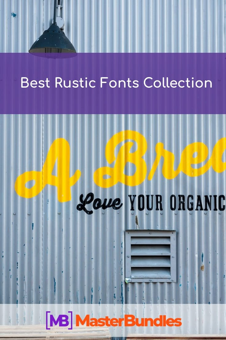 Best Rustic Fonts Collection. Pinterest Image.