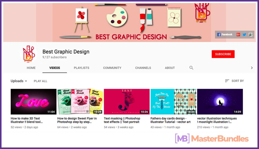 70 YouTube Channels For Learning Web Design in 2020 - best graphic design 9