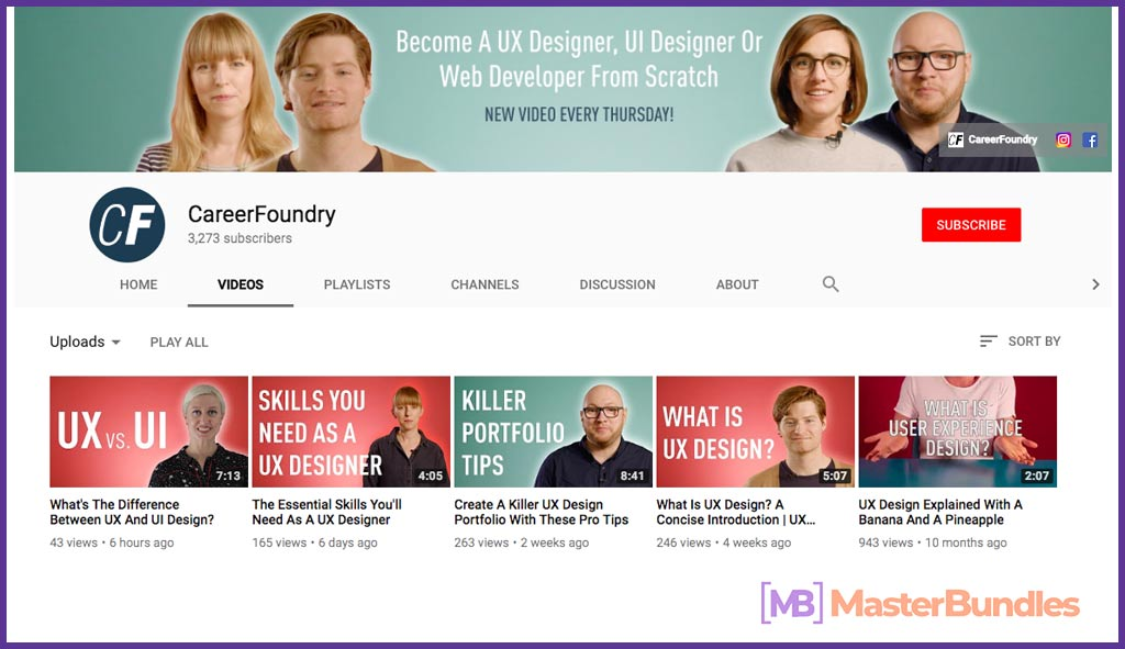 70 YouTube Channels For Learning Web Design in 2020 - careerfoundry 11