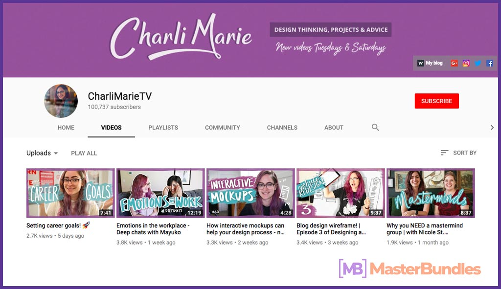 70 YouTube Channels For Learning Web Design in 2020 - charliMarie tv 13