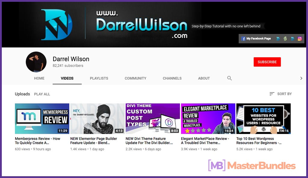 70 YouTube Channels For Learning Web Design in 2020 - darre wilson 15