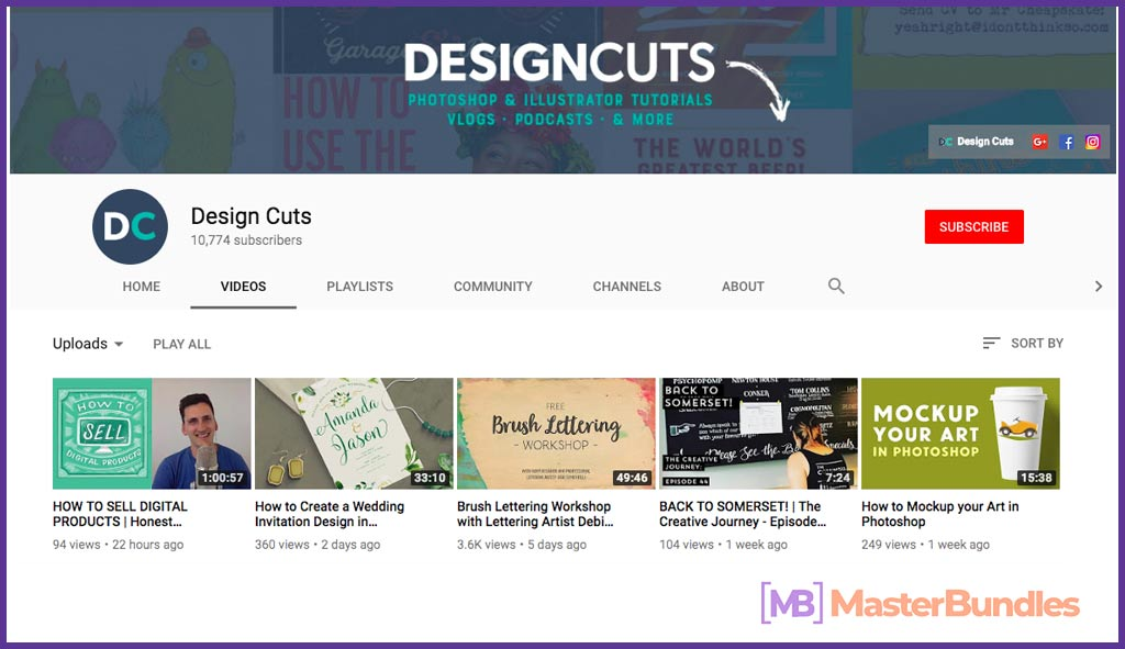70 YouTube Channels For Learning Web Design in 2020 - design cuts 16
