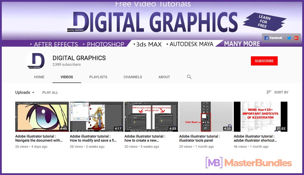 70 YouTube Channels For Learning Web Design in 2020 - digital graphics 19