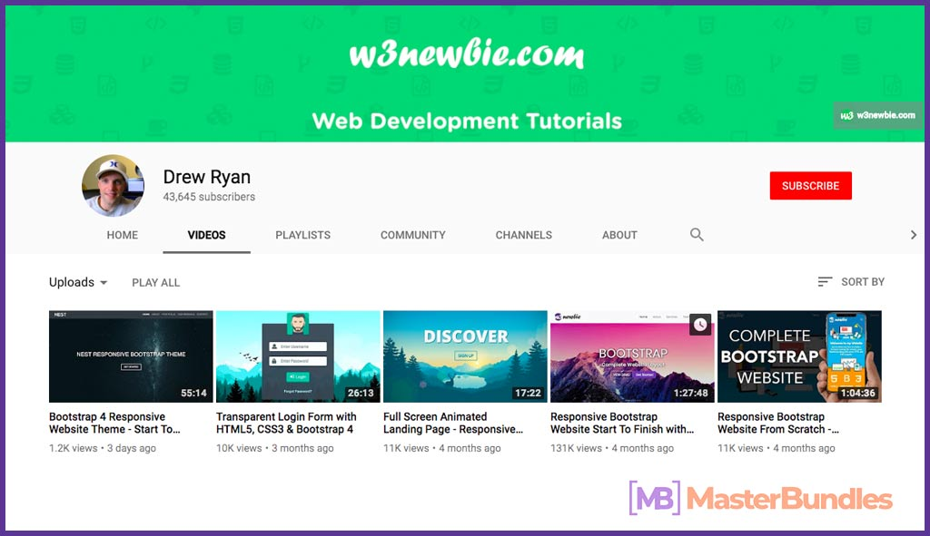 70 YouTube Channels For Learning Web Design in 2020 - drew ryan 20