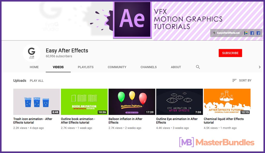 70 YouTube Channels For Learning Web Design in 2020 - easy after effects 21