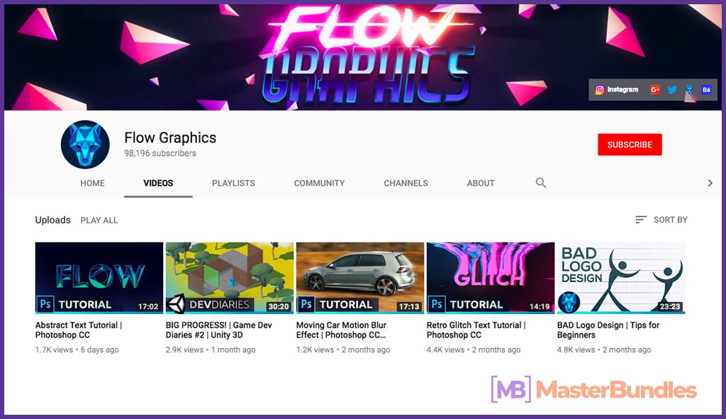 70 YouTube Channels For Learning Web Design in 2020 - flow graphics 23