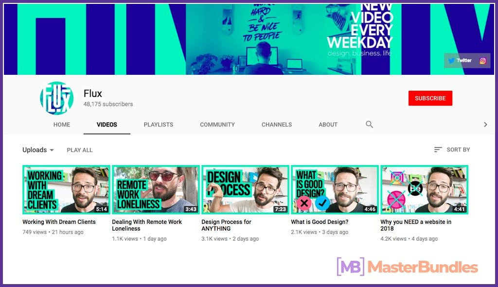 70 YouTube Channels For Learning Web Design in 2020 - flux  24