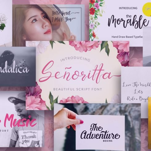 95+ Best Girly Fonts 2021: Free, Premium & Bundles