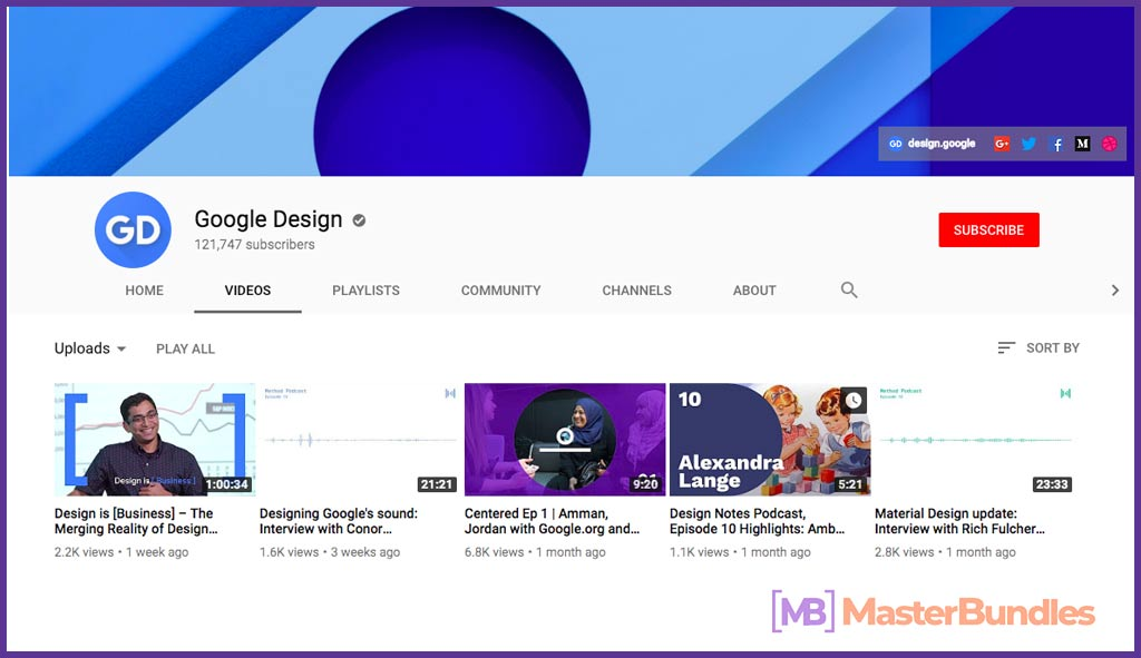 70 YouTube Channels For Learning Web Design in 2020 - google design 29