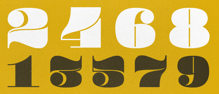 25+ Best Number Fonts in 2020 - image13 1