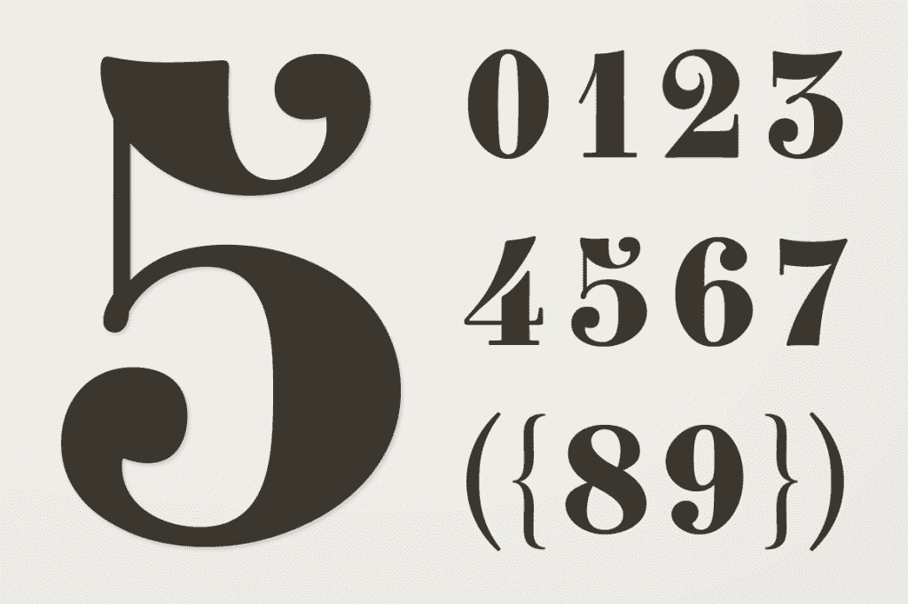 25+ Best Number Fonts in 2020 - image24