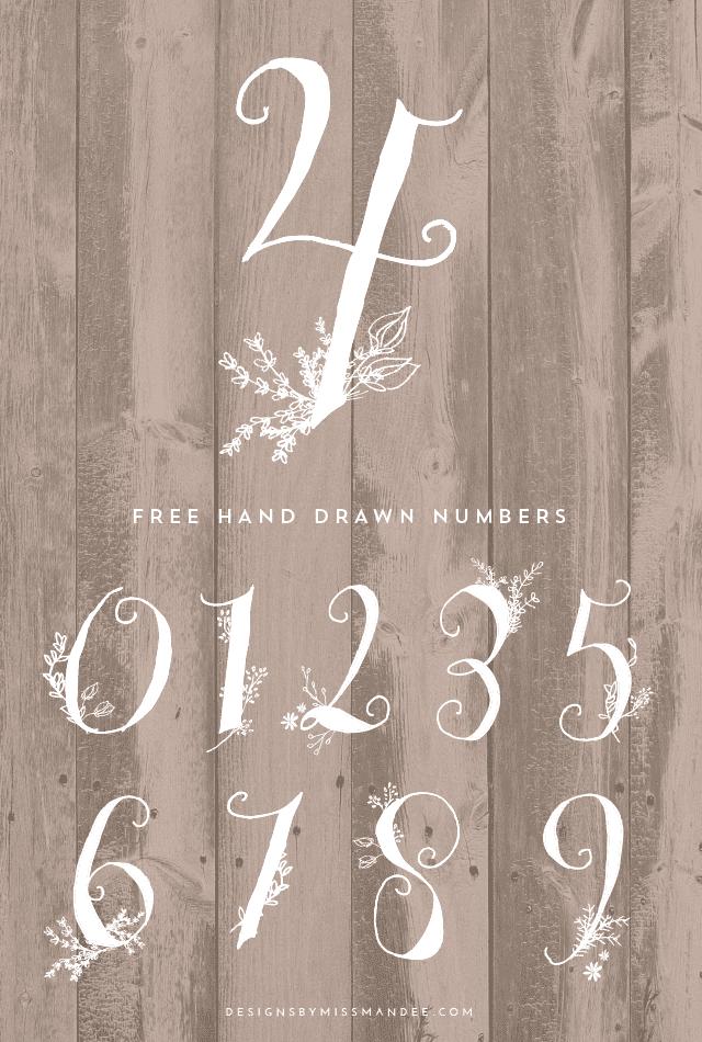 25+ Best Number Fonts in 2020 - image37 1