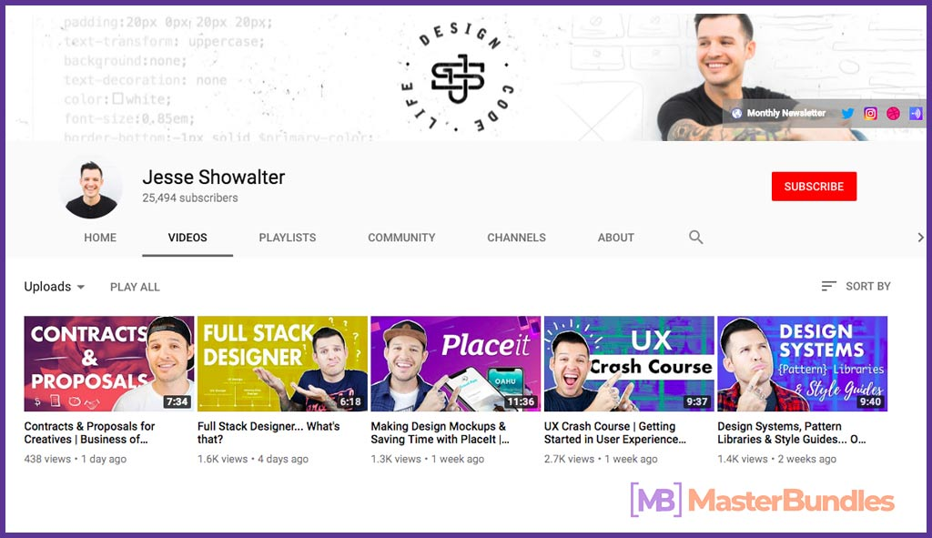 70 YouTube Channels For Learning Web Design in 2020 - jesse showalter 38