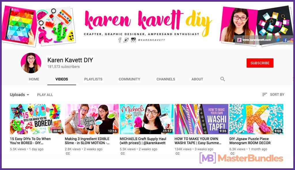 70 YouTube Channels For Learning Web Design in 2020 - karen kavet diy 40