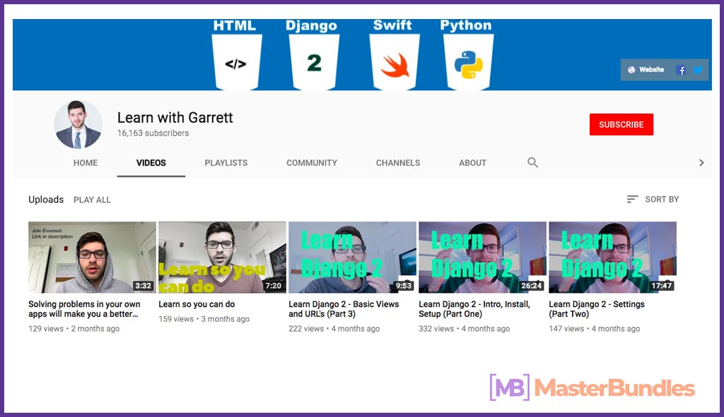 70 YouTube Channels For Learning Web Design in 2020 - learn with garrett 26