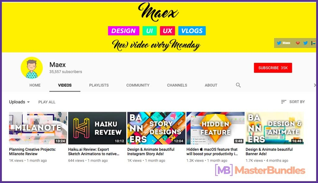 70 YouTube Channels For Learning Web Design in 2020 - maex 42
