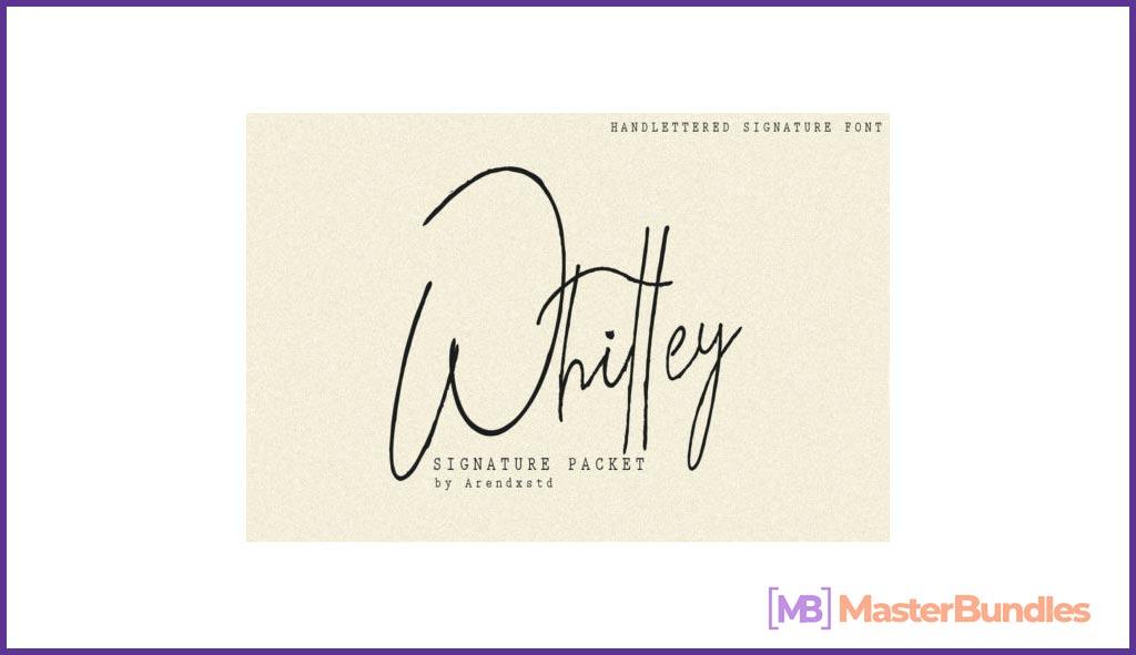 Modern Signature Fonts Bundle.