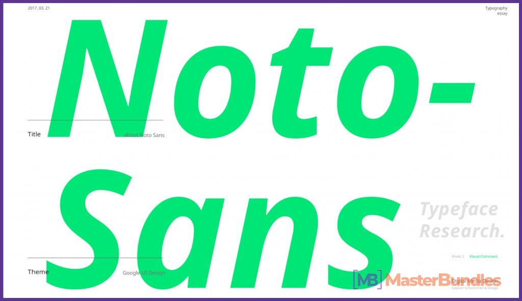 Noto Sans.